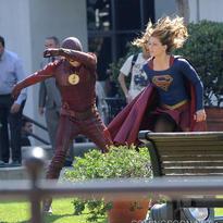 Crossover Supergirl/The Flash Detrás De Cámaras1