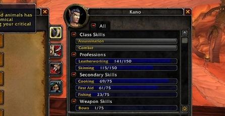 World of Warcraft: Las profesiones