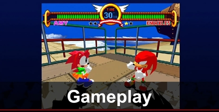Sonic the Fighters: Gameplay