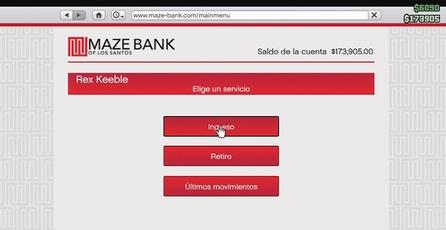 Grand Theft Auto Online: Guarda tu dinero en el banco