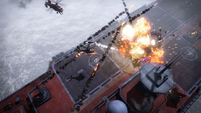 Cada acción destructiva dentro del juego genera puntos, que podrás usar para actualizar diferentes características de tu vehículo, como armamento, regeneración de vida o tiempo de espera para cada ataque especial