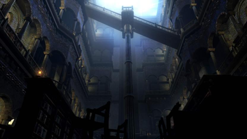 El mundo de Dark Souls está repleto de impactantes escenarios de fantasía, espeluznantes cavernas y majestuosas e intrincadas ciudadelas, a diferencia de Oblivion que es una extensa superficie plana