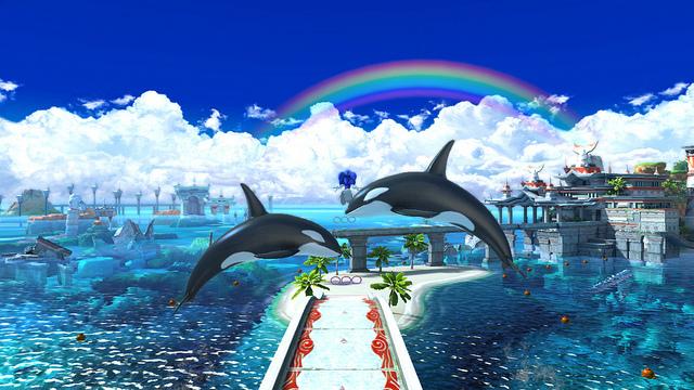 Seaside Hill es de nuestros niveles favoritos y las orcas nos traen memorias del Dreamcast