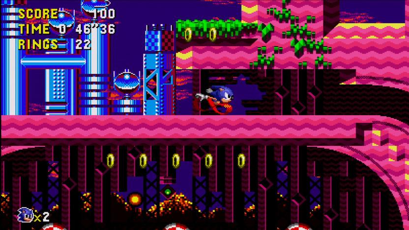 Mientras Yuji Naka se mudó a Estados Unidos para hacer Sonic 2, el creador del bólido azul Naoto Oshima se quedó en Japón para trabajar en Sonic CD, ambos proyectos trabajados a la par bajo perspectivas diferentes