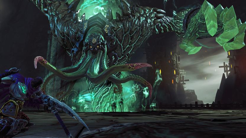 Death cuenta con la ayuda de su corcel en las zonas abiertas; por lo general no sirve más que de vehículo, pero en ocasiones tomará parte en la acción contra colosales jefes