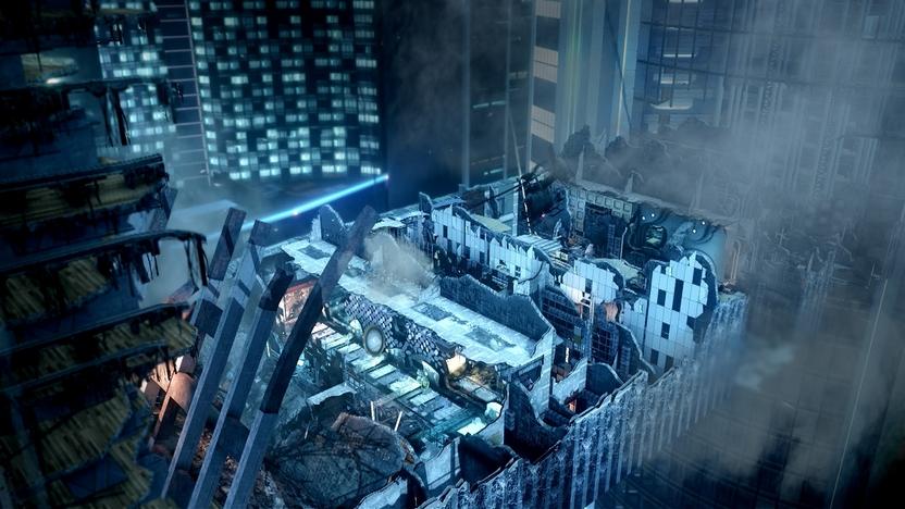 Free Fall, incluido como DLC adicional en todas las copias nuevas de CoD: Ghosts, es un mapa pequeño cuyo terreno se va modificando conforme transcurre la partida