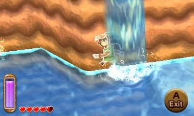 La capacidad de meterse en las paredes permite a Link explorar el mundo de una nueva manera