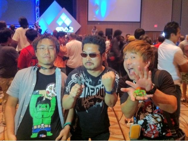 Ryota Niitsuma, Katsuhiro Harada y Yoshinori Ono estuvieron presentes en el evento