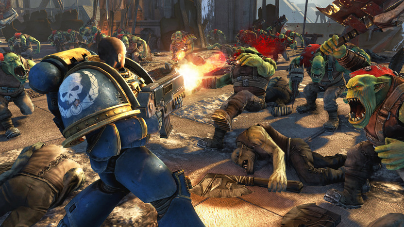 Un Space Marine puede enfrentar a grandes cantidades de enemigos