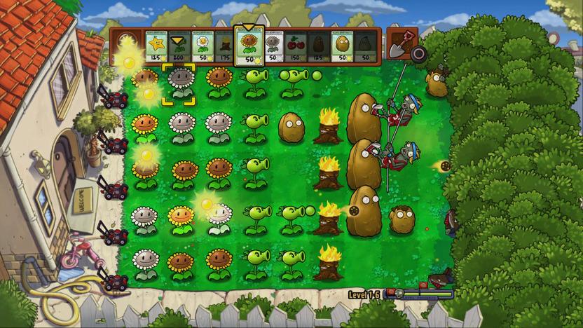 La última línea de defensa contra los zombis: un jardín con muchas plantas