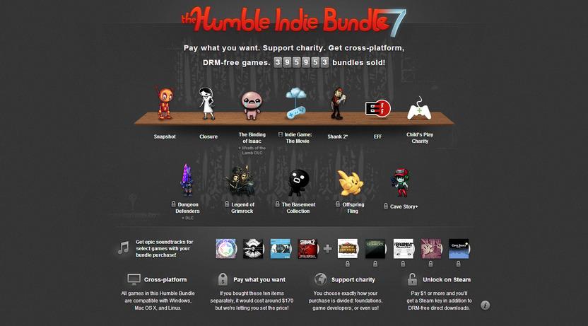 Una de las características de los Humble Indie Bundles es que todos sus títulos están disponibles para Windows, Mac, y Linux