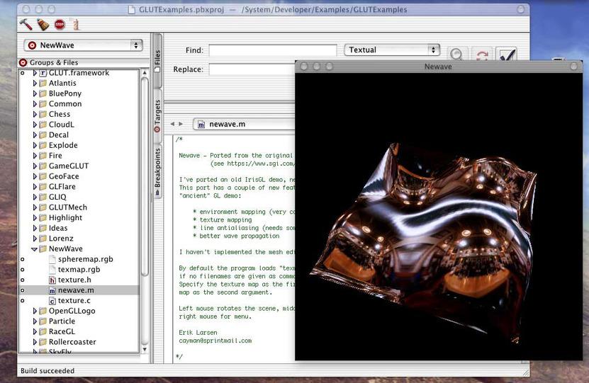 OpenGL es usado ampliamente para la creación de ambientes 3D no sólo para videojuegos