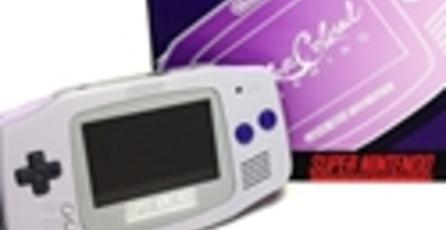 Anuncian Game Boy Advance con carcasa inspirada en SNES