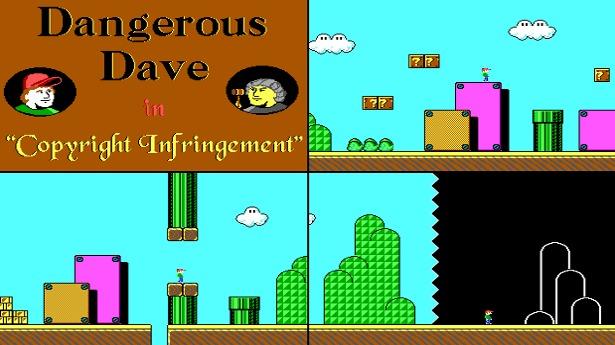 El primer demo secreto del smooth scrolling fue Dangerous Dave in Copyright Infringement, un remake del nivel inicial de Super Mario 3.