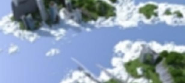 Crean espectaculares islas voladoras en Minecraft