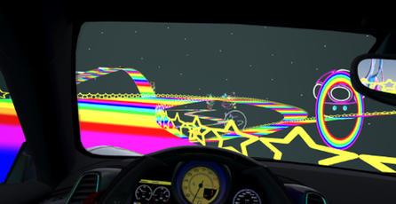 Recrean Rainbow Road en el simulador realista <em>Assetto Corsa</em>