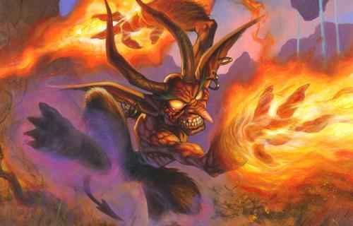 Hay cartas con dinámicas muy interesantes, como este demonio que te hace 3 de daño al ser invocado