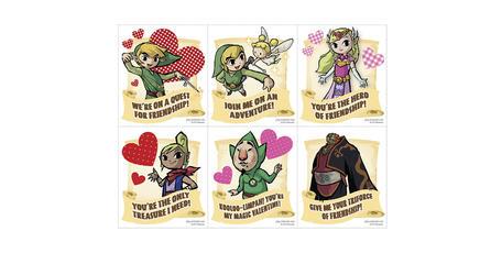 Nintendo publica tarjetas para el 14 de febrero