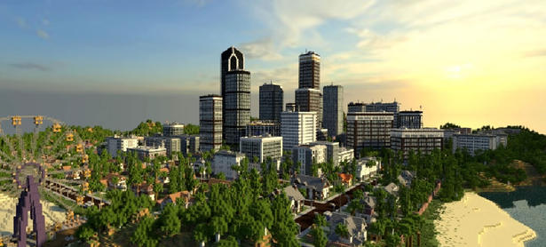 Recrean Los Ángeles en <em>Minecraft</em>
