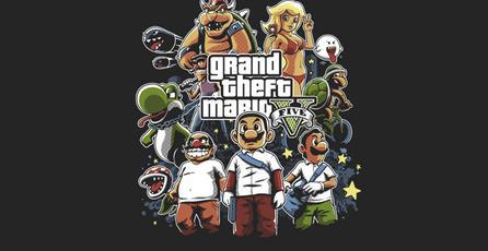 Tienes una hora para comprar esta camiseta de <em>Grand Theft Plumber</em>
