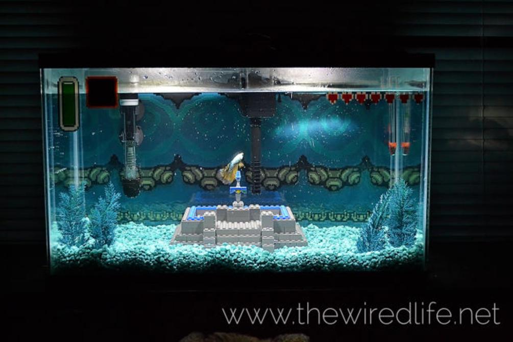 Mario bajo el agua