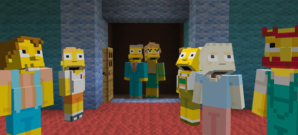 Los Simpsons llegan a <em>Minecraft</em> para PlayStation