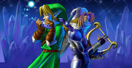 Mira un Nintendo 64 con tema de <em>Ocarina of Time</em>