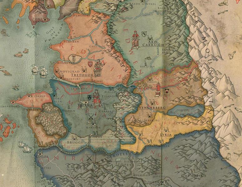 Todo lo que necesitas saber sobre the witcher levelup la regin central del continente arriba los reinos del norte abajo cintra gumiabroncs Image collections