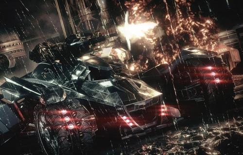 El Batmobile es imponente y un arma muy efectiva