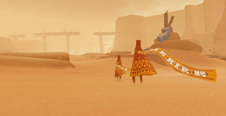 Así luce <em>Journey</em> en PlayStation 4