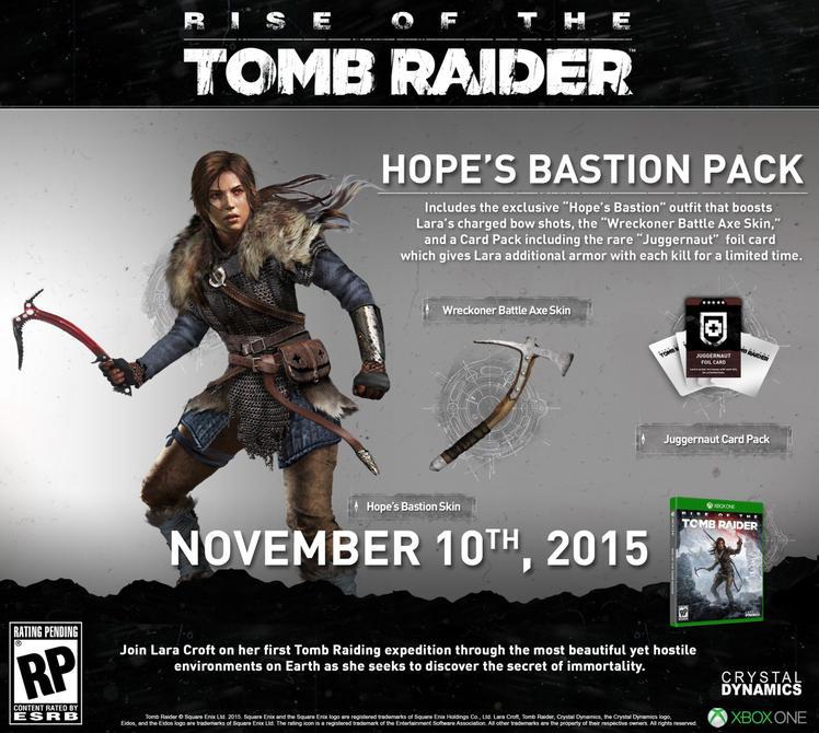 Mira los incentivos de preventa de <em>Rise of The Tomb Raider</em>