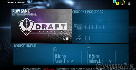 Nuevos screenshots del sistema draft de Madden NFL 16