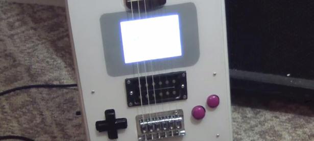 Crean guitarra que también sirve como Game Boy