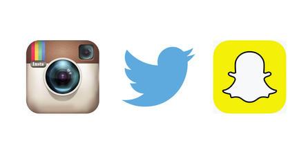 Instagram, Twitter y Snapchat son las redes sociales favoritas de los jóvenes