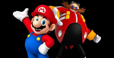 Mario y el Dr. Eggman combaten por el mejor bigote