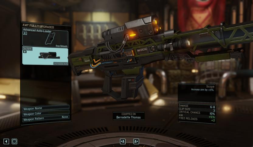 Modifica y nombra el armamento