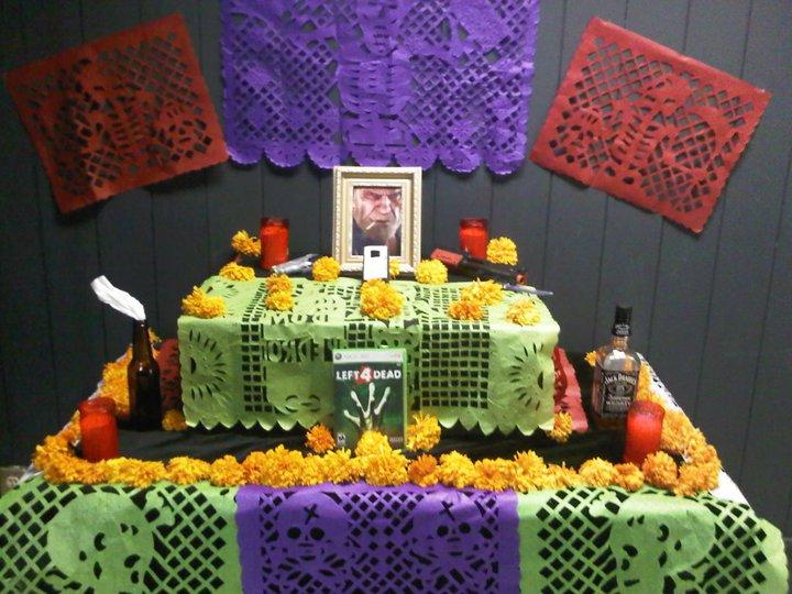 Ofrenda del Día de Muertos para Bill de Left 4 Dead