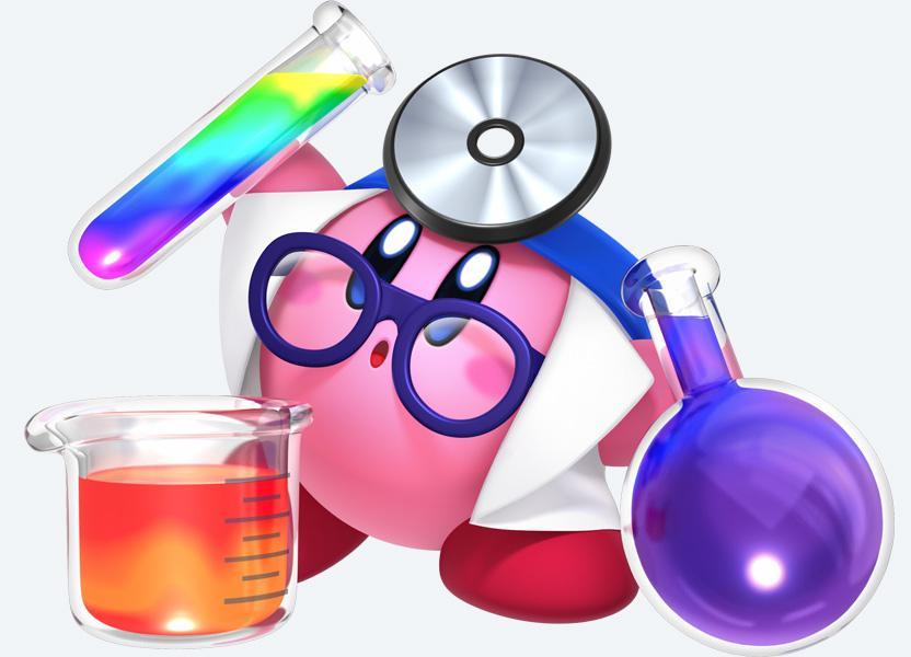 Kirby ahora cuenta con nuevas habilidades, entre ellas, arrojar pildoras como un doctor