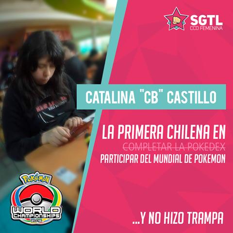 Mucho éxito a Catalina y toda la delegación chilena en Worlds!