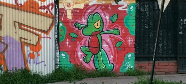 Alguien está pintando las Poképaradas con graffitis de Pokémon