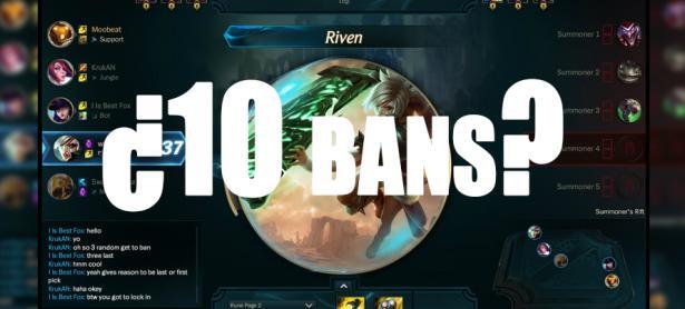League of Legends: Es posible que tengamos 5 bans por equipo