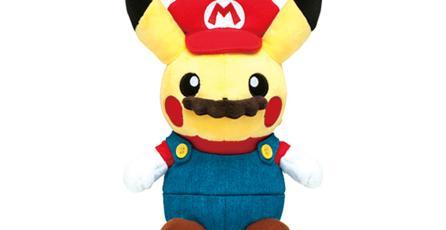 Ésta es la mercancía del crossover entre Mario y Pikachu