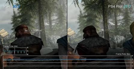 La versión PS4 Pro de <em>Skyrim Special Edition</em> tiene peor framerate