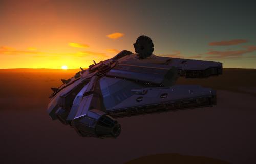 Millenium Falcon creado por el usuario  de steam MuFuTee