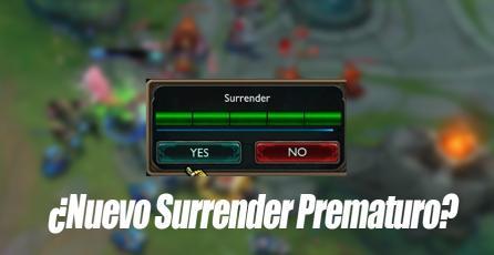 League of Legends: Se está probando una opción para rendirse temprano que no es /Remake