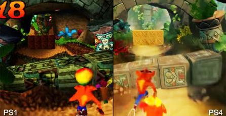 Comparativa gráfica entre <em>Crash Bandicoot</em> de PS1 y PS4