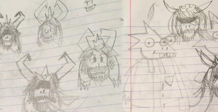 Creador de <em>Undertale</em> muestra bocetos tempranos de algunos personajes
