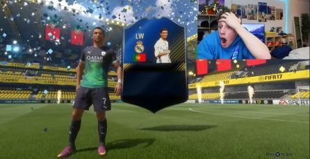 La descontrolada reacción de un fanático al obtener a Ronaldo en <em>FIFA 17</em>