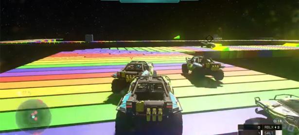 Alcanza las estrellas en este Rainbow Road hecho en <em>Halo 5</em>