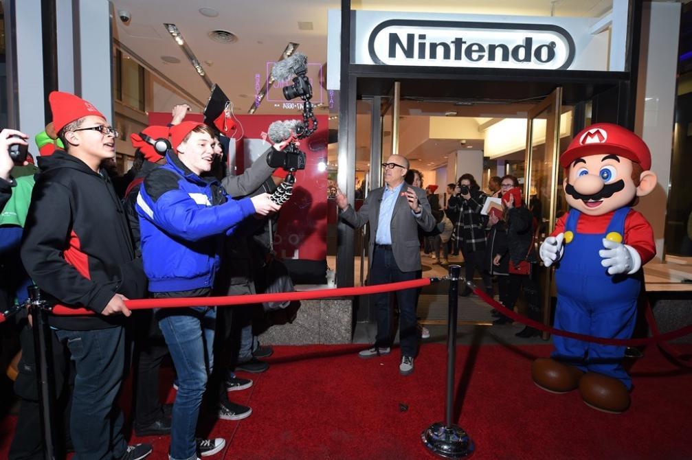 Nintendo Switch en el Madison Square Park